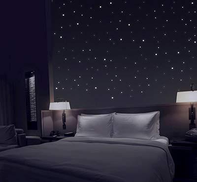 Sternenhimmel aus 361 Leuchtpunkten