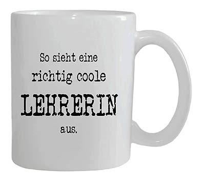 Tasse für eine coole Lehrerin