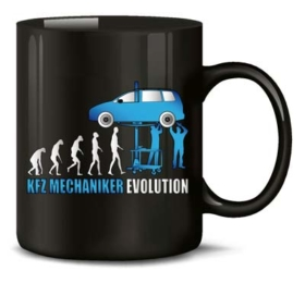 Tasse Kfz-Mechaniker Evolution