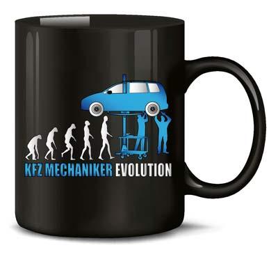 Tasse Kfz-Mechaniker Evolution