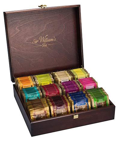 Teebox mit verschiedenen Teesorten