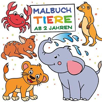 Tiere Malbuch für 2-jährige Kinder