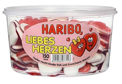 Valentinstag Geschenke Fruchtgummi Liebesherzen