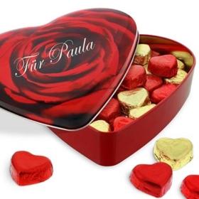 Valentinstag Geschenke Herz-Nougat-Pralinen