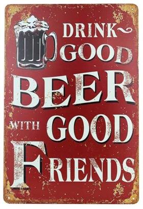 Vintage Bier-Blechschild