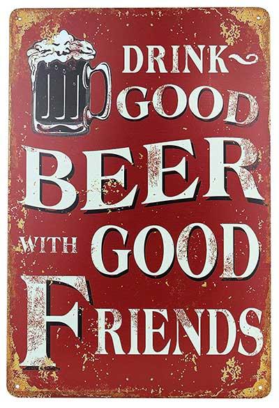 Vintage Geschenke Bier Blechschild