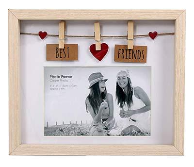 Holz-Fotorahmen mit Best Friends