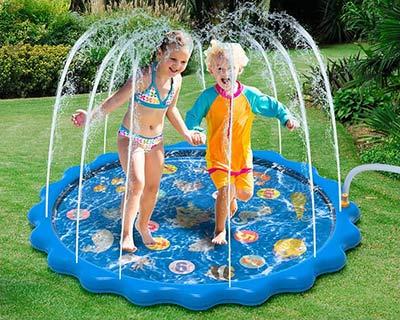 Outdoorspielzeug Wasserspielmatte für den Balkon und Garten