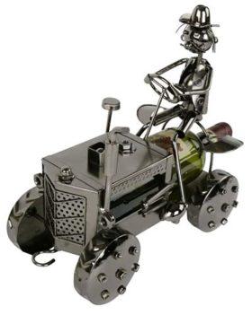 Weinflaschenhalter Traktor Metallmännchen