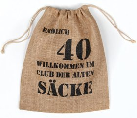 Alter Sack 40 Jahre Geschenkverpackung