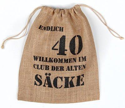 Witzige Geschenkverpackung 40. Geburtstag