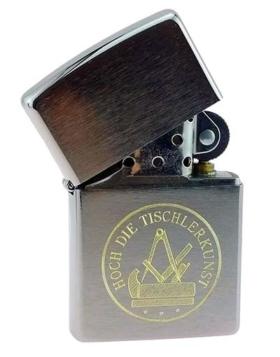 Zippo-Feuerzeug mit Tischler-Zunftwappen