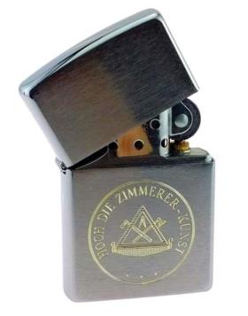 Zippo-Feuerzeug mit Zimmermann-Zunftwappen
